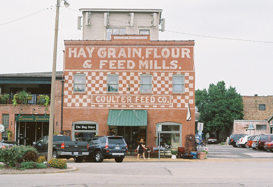 A Tale Of Two Feed Mills Painted Ad