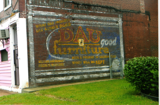 Superior Location: St. Louis Avenue And Garrison, North St. Louis. As So Often  Happens, This Wall Sign For Dau Furniture Was Suddenly Exposed A Couple  Years Ago, ...