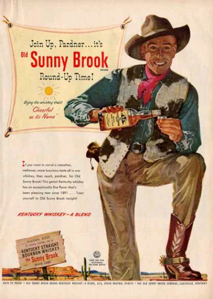 Sunny Brook Whiskey Painted Ad